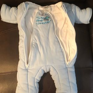 Merlin Sleep Suit Infant Small 0-6 months Blue